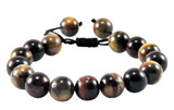 Tiger Eye Wrist Mala, Drawstring Style