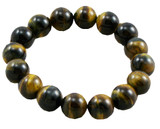 Tiger Eye Wrist Mala- 9 mm Beads