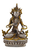 Vajrasattva Buddha Statue, Handmade in Nepal from Silver and Brass