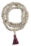 White Yak Bone Prayer Beads Circle Design Mala