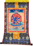 Six-Armed Mahalala with Consort Thangka