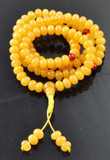 Yellow Beeswax Beads Mala