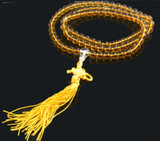 Yellow Crystal Mala Prayer Beads