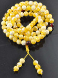 Yellow Jade Mala on an Elastic Cord