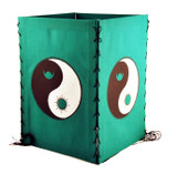 Yin Yang Cotton Lantern in Green, Blue, Teal, Yellow, or Lime Green