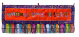 Buddhist Prayer Flag, Horizontal with Om Mani Padme Hum Mantra