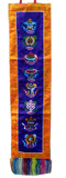 Buddhist Vertical Prayer Flag with Eight Auspicious Signs