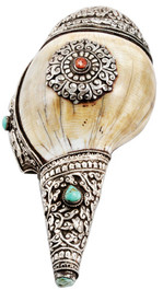 Tibetan Buddhist Conch Shell, Sankha