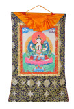 Chenrezig Thangka, Hand-Painted in Nepal
