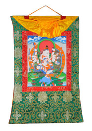 Ganesh Thangka, Hand-Painted in Nepal