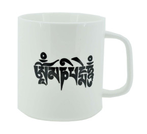 Coffee Mug with Om Mani Padme Hum Mantra