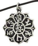Lotus Pendant with Om Mani Padme Hum Mantra