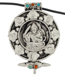 Manjushri Buddha Prayer Box, Silver