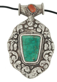 Sterling Silver and Turquoise Animal Pendant