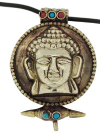 Buddha Head Prayer Box Pendant