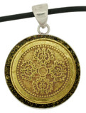Double Dorje Pendant, Handmade from Silver and Brass