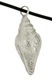 Conch Shell Pendant, Sterling Silver