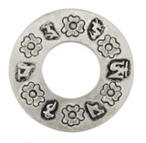 Om Mani Padme Hum Ring Pendant, Silver