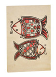 Two Fish Poster, Lokta Paper