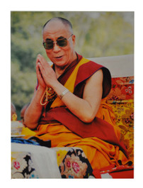 His Holiness the Dalai Lama Poster with hands in Anjali Mudra, Prayer Position