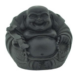Black Metal Happy Buddha Statue