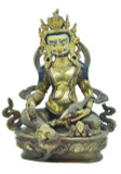 Yellow Dzambhala Statue, 8.5 Inches