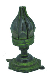 Blooming Lotus Candle Holder, Green
