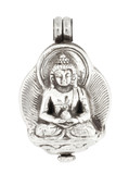 Amitabha Prayer Box Locket Pendant with a Hinge