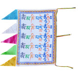 Satin Prayer Flag with Om Mani Padme Hum Mantra