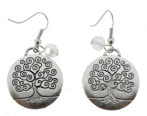 Tree of Life Earrings, Pewter