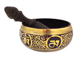 Magenta Singing Bowl, 4.5 Inches with Buddhist Mantra