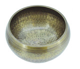"Brass Singing Bowl, 5"", with Hammer Marks"