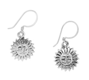 Sterling Silver Sun Earrings