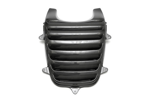 Direct bolt-on replacement for the factory ram air cover constructed from the highest quality carbon fiber