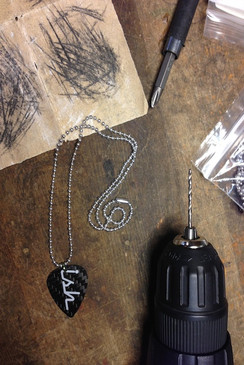OUT OF STOCK - Ish Carbon Fiber Guitar Pick Necklace