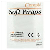 Comply Soft Wraps: If you wear hearing aids, you have likely experienced whistling (feedback) from your hearing aids.  Feedback can occur when the hearing aid fits too loosely or does not seal up the ear canal .  Comply Soft Wraps can solve this issue.      •Comply Soft Wraps put an end to annoying feedback from hearing aids.   •Instantly improves the fit which helps eliminates feedback for custom earmolds, ITEs and CICs. •Each Comply SoftWrap is a 42mm long high tech, slow recovery, temperature activated foam with adhesive backing. •Comply SoftWraps control feedback, increases comfort and assist with retention of your custom hearing aids and earmolds. •Each wrap lasts approximately one week. •There are 10 soft wraps in each package.