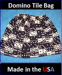 Bag for holding dominoes