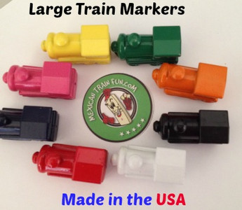 These Mexican Train Markers are made in the USA