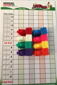 Domino train markers and scorepad