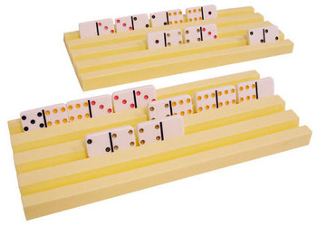 Domino Trays for Mexican Train Dominoes