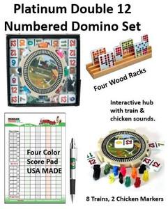 Double 12 Numbered Platinum Domino Set