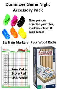 Mexican Train Fun Dominoes Game Night Accessory Pack