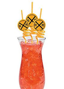 Train Crossing Party Straws  (Set of 4)