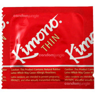 A front side image of a single Kimono Thin Condom.