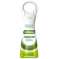 A front side image of Lifestyles Natural Desire Personal Lubricant, 3.5 Ounce.