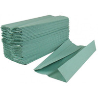 C Fold Green Hand Towels 1Ply (Case 2880 Towels)