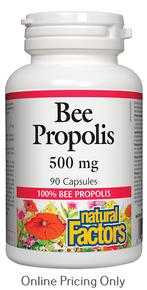 NATURAL FACTORS BEE PROPOLIS 500mg 90caps