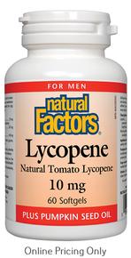 NATURAL FACTORS LYCOPENE 10mg 60sg