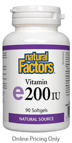 NATURAL FACTORS VITAMIN E 200IU 90sg