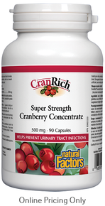 NATURAL FACTORS CRANRICH SUPER STRENGTH CRANBERRY CONCENTRATE 500mg 90caps